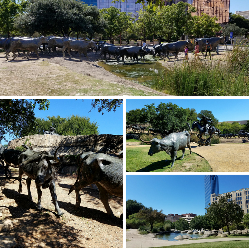 Downtown Dallas Bronze Statues Plaza Art City