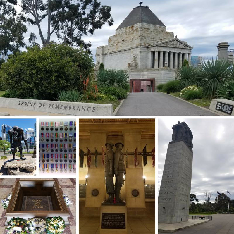 Melbourne Australia Royal Botanical Garden Shrine of Remembrance War Memorial WWI WWII