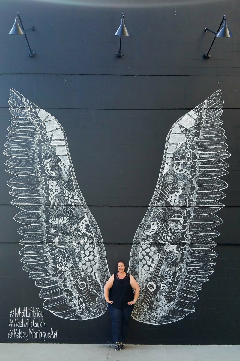 Nashville, Nashville TN, Street Mural, Street Art, The Gulch, Kelsey Montague, What Lifts You
