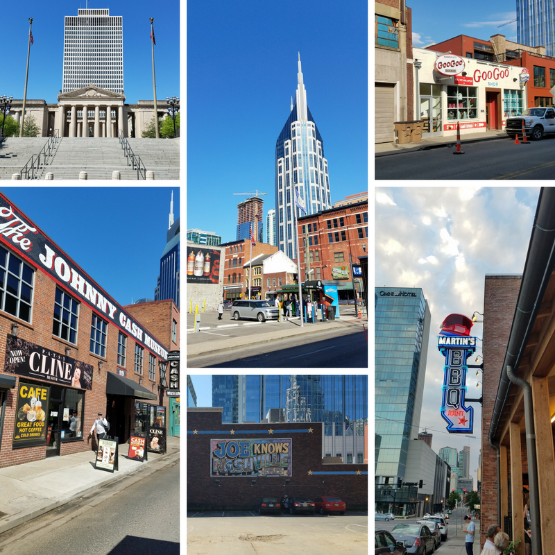 Nashville, Nashville TN, Downtown Nashville, Johnny Cash Museum, GooGoos, AT&T Building, Martin's BBQ