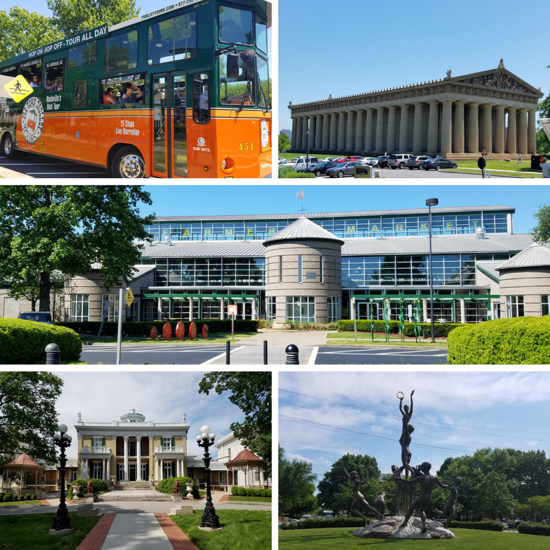 Nashville, Nashville TN, Old Town Trolley Tour, The Parthenon Pavillon, Farmer's Market, Belmont Mansion