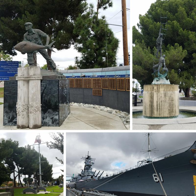 USS Iowa, American Merchant Marine Memorial, San Pedro, San Pedro Ca