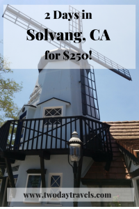 Windmill in Solvang CA - Pinterest Link