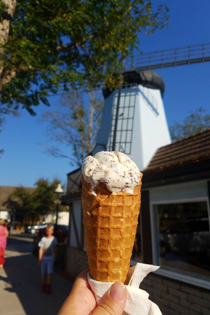 Ice Cream from the Solvang Trolley Ice Cream Parlor in Solvang CA