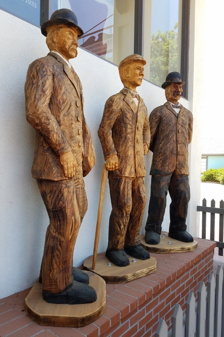 Statue of the Founders of the City of Solvang, located in Downtown Solvang CA