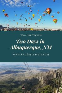 Balloons flying in the air, Arial Tram in Albuquerque NM