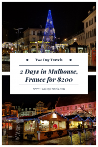 Christmas Lights and Market Stalls in Mulhouse France