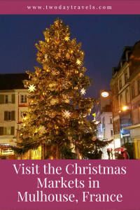 Lighted Christmas Tree in Mulhouse France
