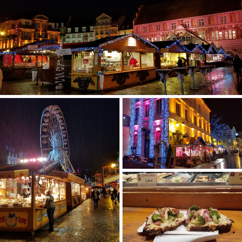 Mulhouse France Christmas Market at Night