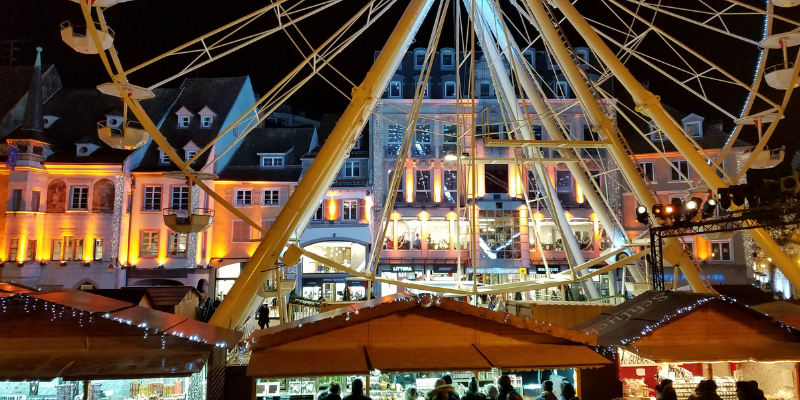 Mulhouse France Christmas Market Ferris Wheel