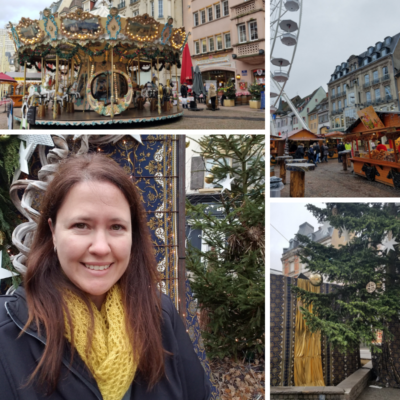 Carousel, Christmas Tree, Christmas Market in Mulhouse France