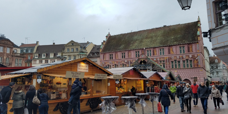 Mulhouse France Christmas Market Stalls