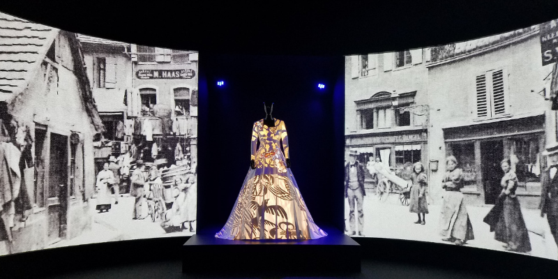 Multimedia exhibition at Musée de l'Impression sur Etoffes - Textile Museum in Mulhouse France