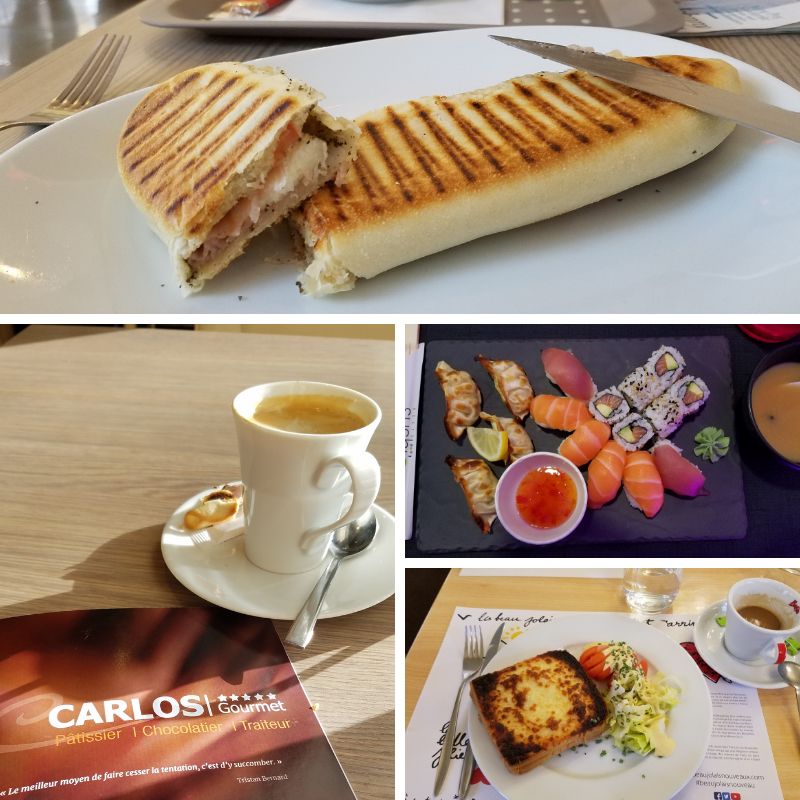 Baguette; Quiche; Sushi; Coffee