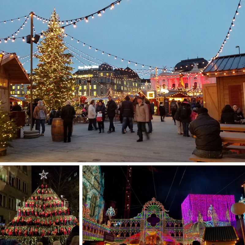 Zurich Christmas Market, Singing Christmas Tree, Illuminarium