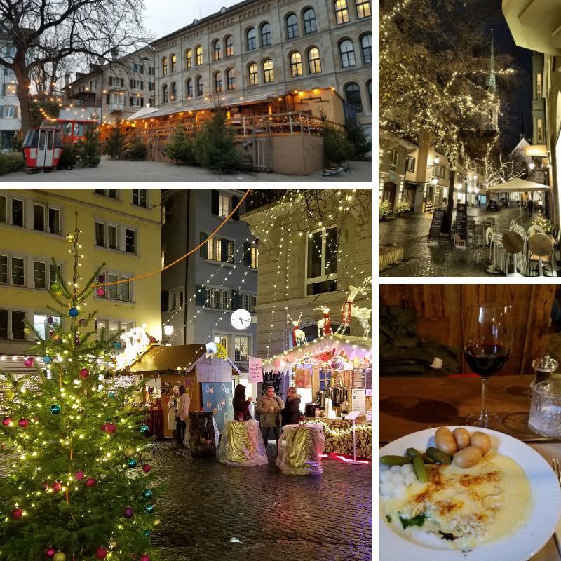 Zurich Christmas Markets, Niederdorf, Raclette Dinner