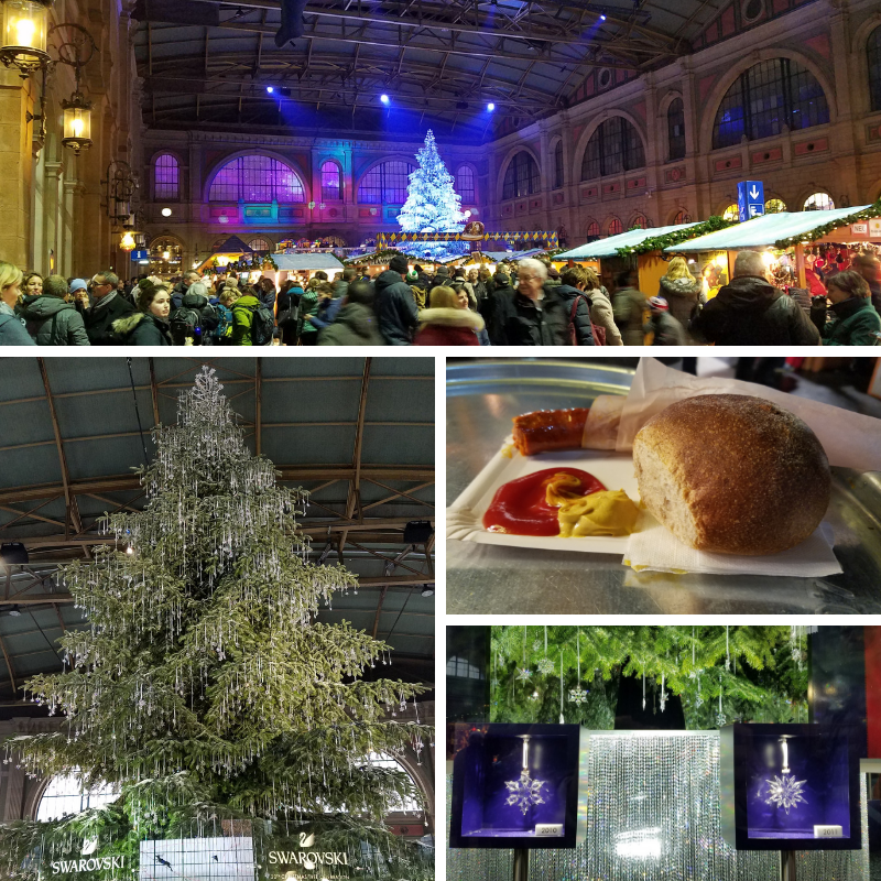 Zurich Christmas Market, Zurich Main Station, Swarovski Christmas Tree