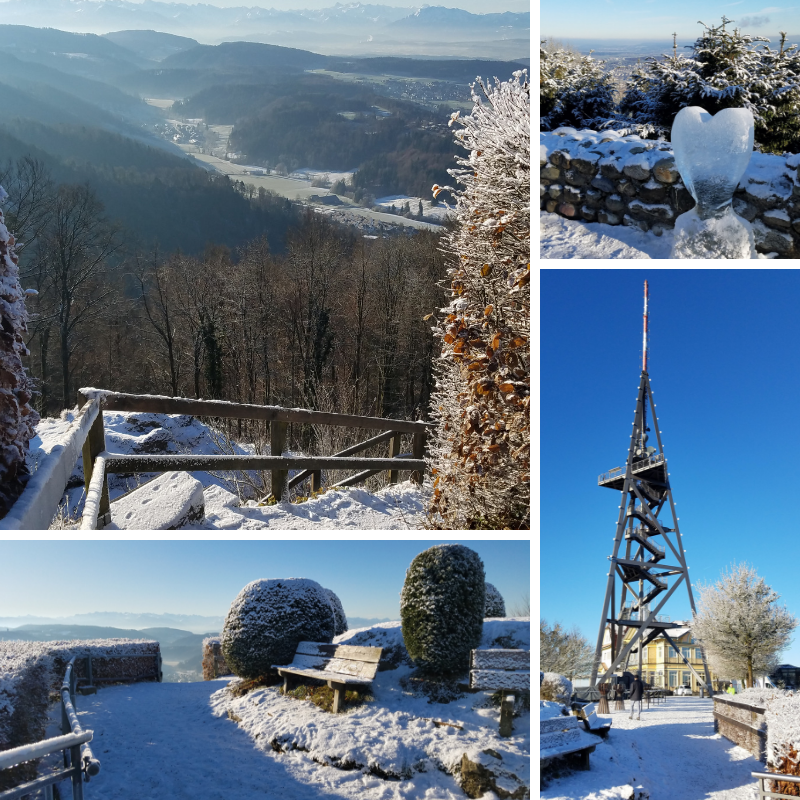 Uetliberg, views of Zurich in December