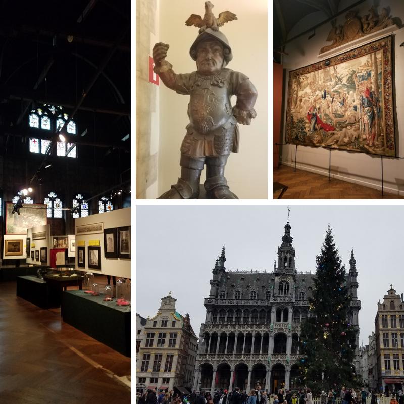 Brussels City Museum, exhibits, statue, tapestry rug, exterior, Brussels Belgium