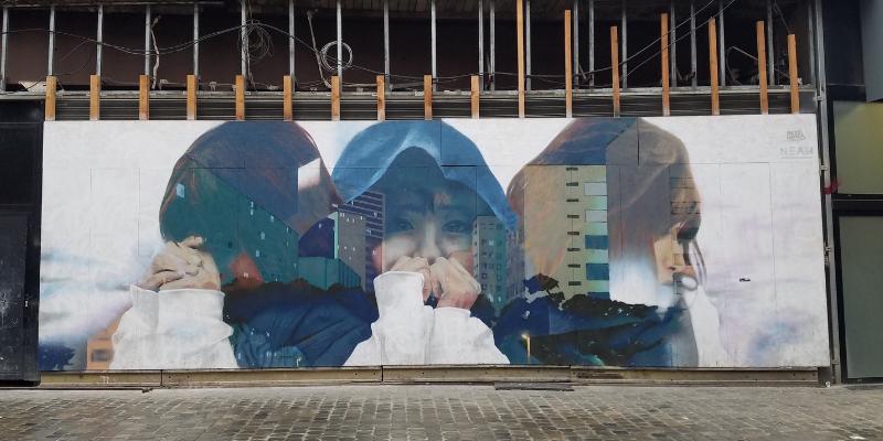 Street Mural in Brussels Belgium