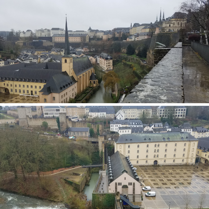 Bock Promontory Views, Luxembourg City