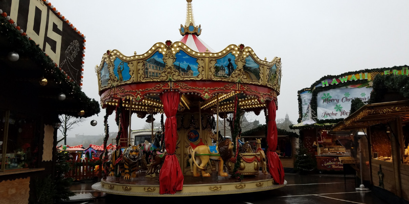 Merry Go Round at Luxembourg City Christmas Market, Place de la Constitution