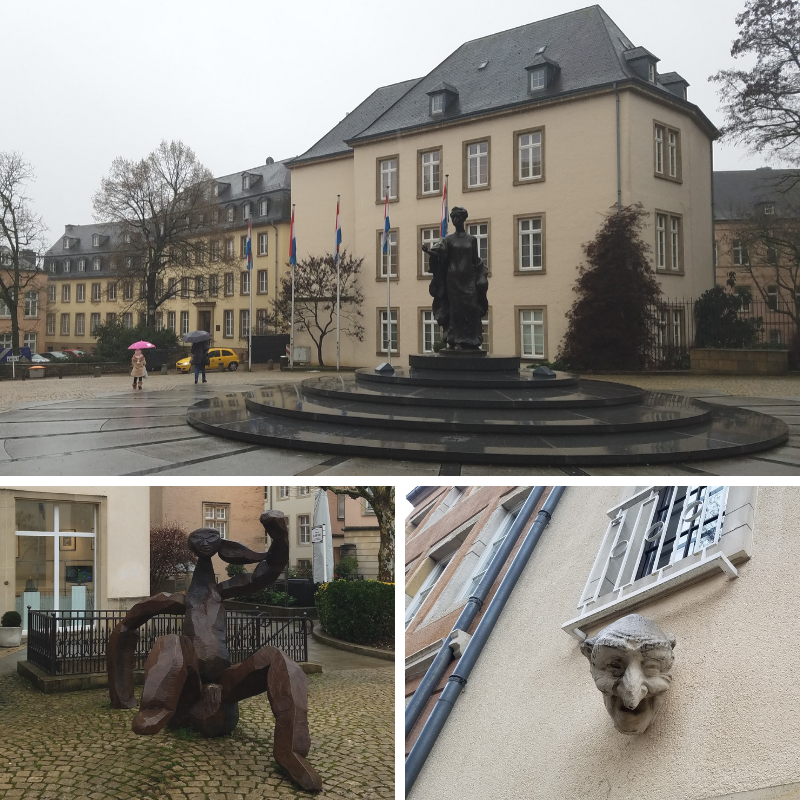 Clairefontaine Gallery, Place Clairefontaine, Grand Duchess Charlotte statue