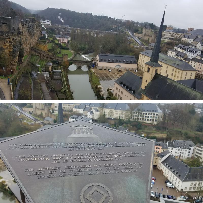 UNESCO World Heritage Marker, Bock Promontory, Stierchen Bridge