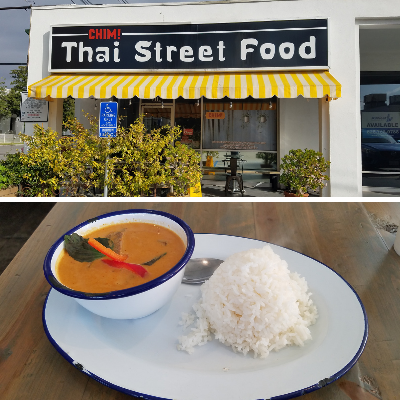 Chim Thai Street Food, Penang Curry, Pasadena CA