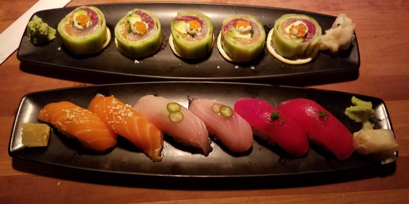 Kuuri Maki, Nigiri Plate, Sushi, Houston's Steakhouse, Pasadena CA