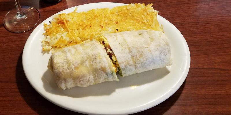 Russell's Cafe, Breakfast Burrito, Pasadena CA