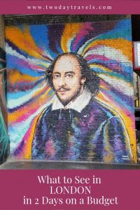 Pinterest Image - Shakespeare Mural at Borough Market