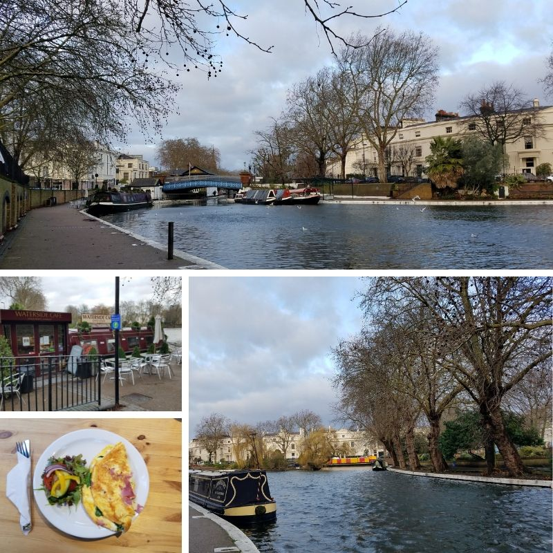 London's Little Venice, Waterside Cafe, Omelet breakfast