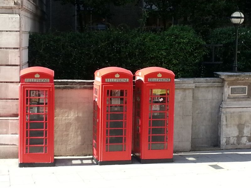 Three of London's Red Phone Booths