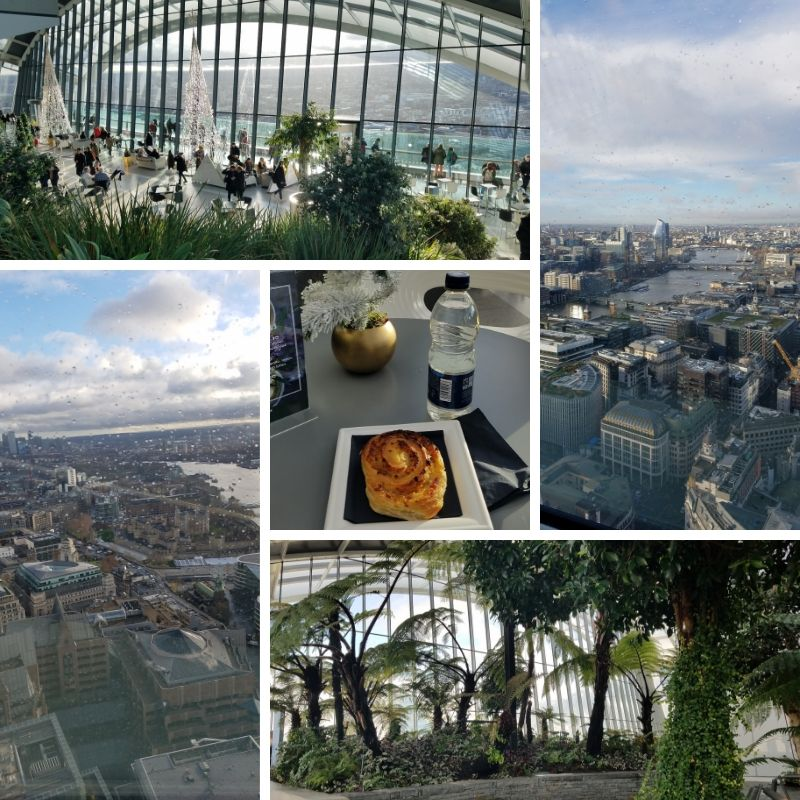 Sky Garden Observation Deck, Views of London, Ham & Cheese Danish, Garden