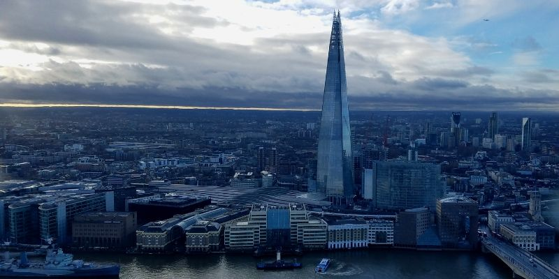 View of The Shard from The Sky Garden Observation Deck