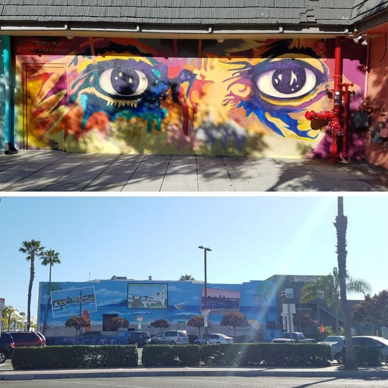 Eyes of Picasso Mural; Postcards from Oceanside CA mural