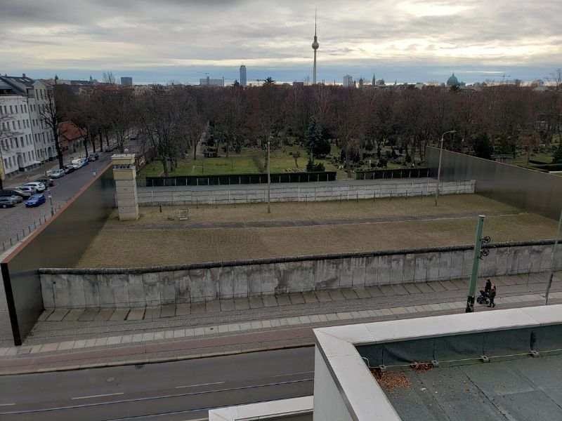 Berlin Wall Memorial showing the Death Strip area.