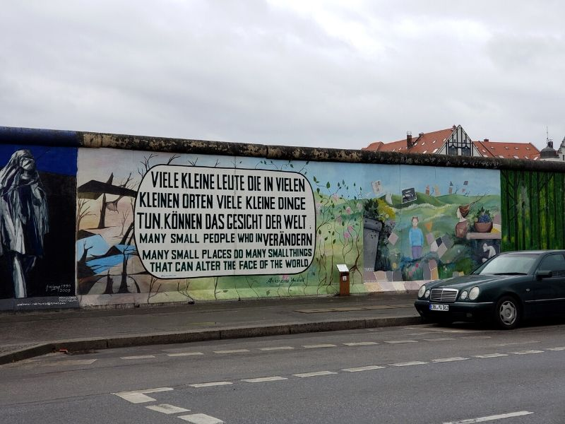 Mural by Muriel Roux at East Side Gallery in Berlin